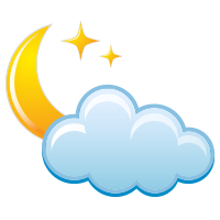 Partly cloudy night